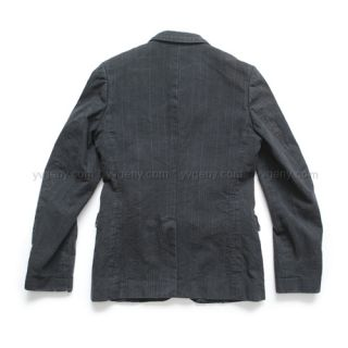 comme des garcons homme plus washed pinstripe cotton jacket blazer 99