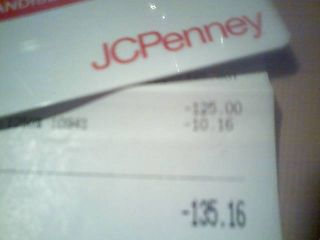 GIFT CARD   MERCHANDISE CREDIT   UNUSED   $135.16