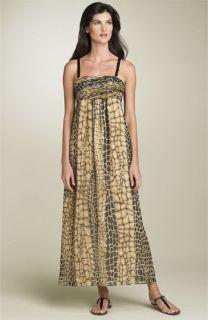 AK Anne Klein Snakeskin Print Maxi Dress