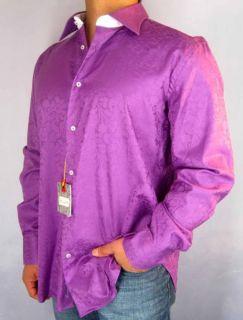 NWT $158 ROBERT GRAHAM Colin Dress Shirt Paisley Floral Sz 39 44 M L