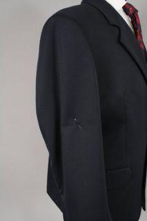 Claudio Morelli Mens Dark Navy Blue Wool Gabardine Blazer Sport Coat