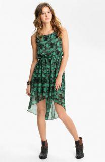 Soprano High/Low Print Chiffon Dress (Juniors)