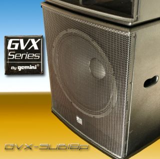 New Gemini GVX SUB18P Powered Sub Subwoofer Pair DJ