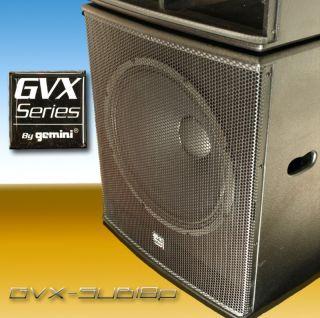New Gemini GVX SUB18P Powered Sub Subwoofer Pair DJ