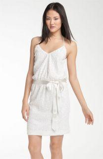 Trina Turk Fuego Sequin Halter Dress