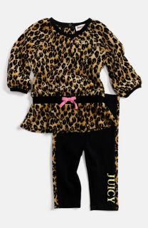 Juicy Couture Leopard Print Tunic & Leggings (Infant)