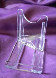 Small Sliding Twist Clear Plastic Plate Bowl Leeds Display Stand 5cm 2