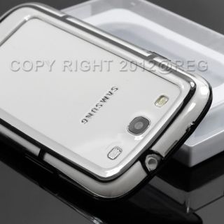 Black Clear TPU Bumper Frame Side Case Cover For Samsung Galaxy S3