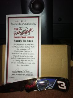 Dale Earnhardt Hand Crafted Collector Knife