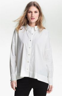 Eileen Fisher Stretch Linen Blend Shirt