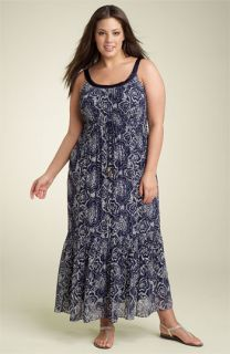 Robbie Bee Print Chiffon Maxi Dress (Plus)