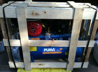 NEW PUMA HONDA GAS POWERED AIR COMPRESSOR POWER TOOLS IN CRATE PN5520G