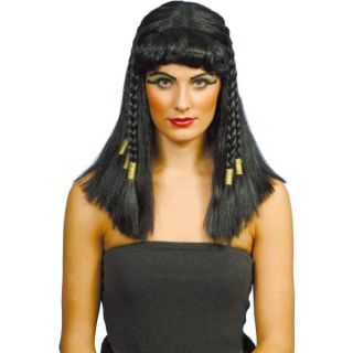 Womens Egyptian Cleopatra Wig Smiffys Fancy Dress Costume