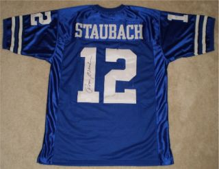 AUTOGRAPHED SIGNED DALLAS COWBOYS 12 BLUE THROWBACK JERSEY JSA