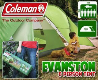COLEMAN Evanston DELUXE TENT 6 Person Man CAMPING Easy Set Up