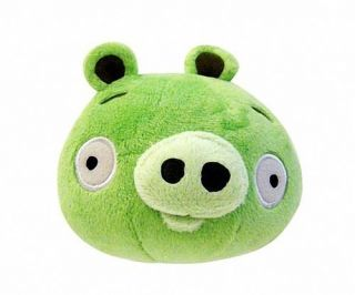 Green Pig 5 Plush with Sound Tag Rovio Commonwealth Toy New