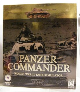 Panzer Commander Tank Simulator PC Game Big Box SEALED 053501