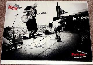 Pearl Jam Eddie Vedder Live on Stage 92 Tribute Poster