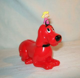 RARE Clifford The Big Red Dog Hard Plastic Bank 4 1 2 Long