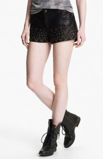 Free People Studded Faux Leather Shorts