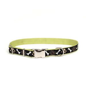 Coastal Ribbon Fashion Pet Dog Collars All Sizes