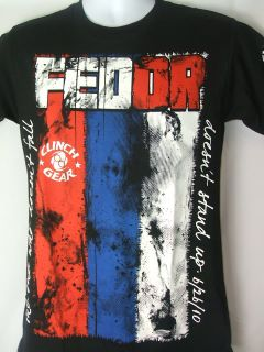 Fedor Emelianenko Clinch Gear HGP Black T Shirt New