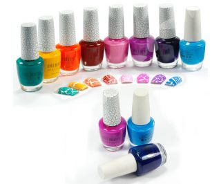 12 Colors Nail Art Shatter Crackle Crack Nail Polish Kit E231