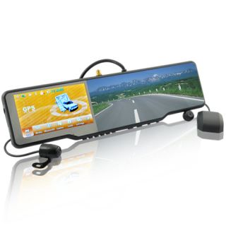 Complete Car Bluetooth Rearview Mirror Kit Touchscreen GPS DVR