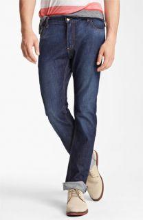 Billy Reid Slim Fit Jeans (Washed Blue)