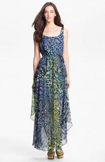 Suzi Chin for Maggy Boutique Print Chiffon Maxi Dress