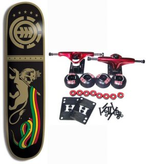 Element Skateboards Complete Skateboard Cascade Rasta with Red Trucks