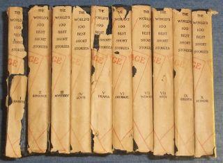 The Worlds 100 Best Short Stories Complete Set 1927