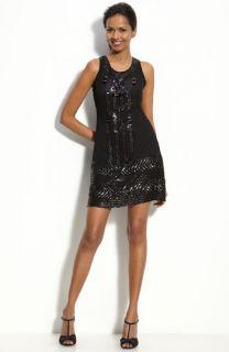 Adrianna Papell Sequin Trim Shift Dress