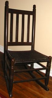 Chair Wood w Wicker Seat Young Small Person Great Condit PICKUP ONLY