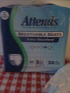 96 Attends incontinent Briefs Adult diapers youth Size small 20  32