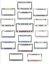 NFL Team Chrome License Plate Frame NFL Auto Tag Officially Licensed