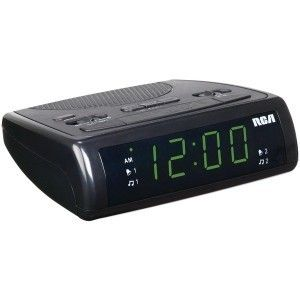 RCA Am FM Dual Alarm Clock Radio Snooze Free SHIP Black