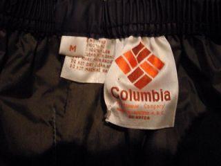 Vtg Columbia Mens M Navy Blue PVC Nylon Shell Pants