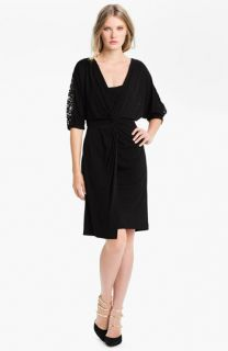 Suzi Chin for Maggy Boutique Knot Detail Jersey Dress
