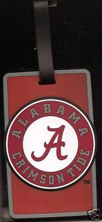 New Alabama Crimson Tide Bama A Rubber Luggage Bag Tag