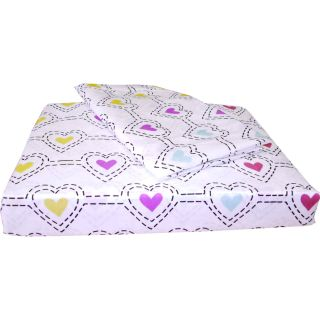 3pc STENCIL HEARTS Extra Long TWIN SHEET SET   Heart Bedding Deep