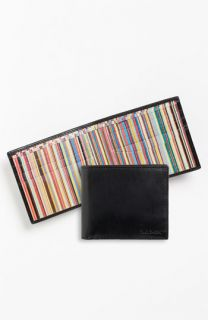Paul Smith Accessories Calfskin Leather Billfold Wallet