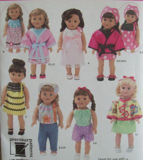 2302 Pattern for 18 Doll Clothes Fits American Girl Dolls Uncut BNIP