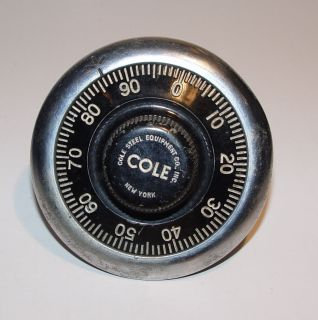 Vintage Cole Safe Combination lock 4 Diameter with Combination