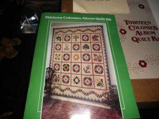 Vintage 1984 Colonial Heirloom  Thirteen Colonies Album Quilt Kit