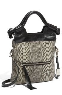 Foley + Corinna Disco City Foldover Snake Embossed Leather Tote
