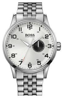 BOSS Black Aviator Round Bracelet Watch