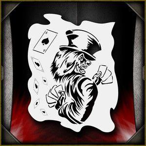 Clowns 11 Airbrush Stencil Template Paint Airsick