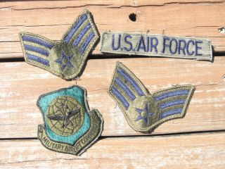 Air Force Patches Lot of 4 Stripes Wings Military Airlift Command