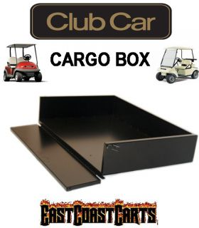 Club Car DS Golf Cart Black Powder Coated Cargo Bed Utility Box